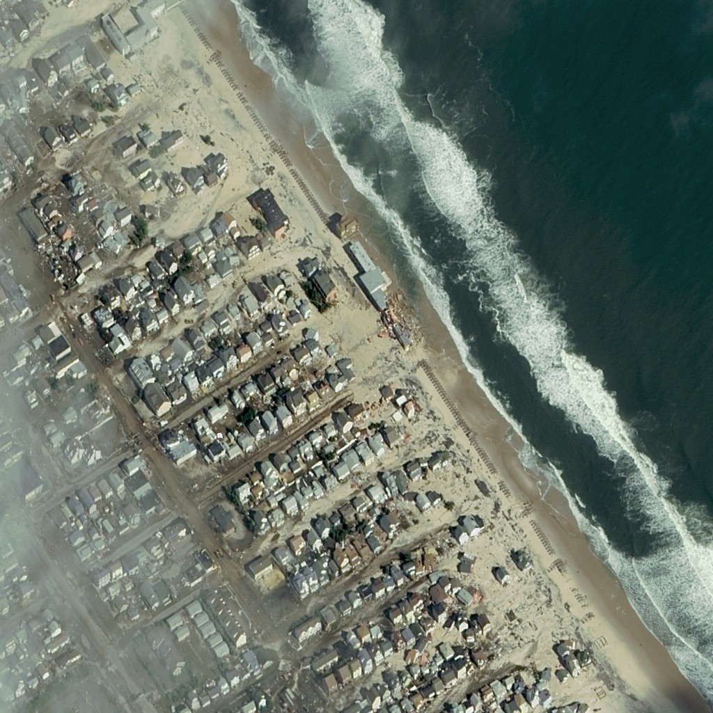 FIGURE 1.Aftermath of Hurricane Sandy, Seaside Heights, N.J., Oct. 31, 2012. Image courtesy of DigitalGlobe.