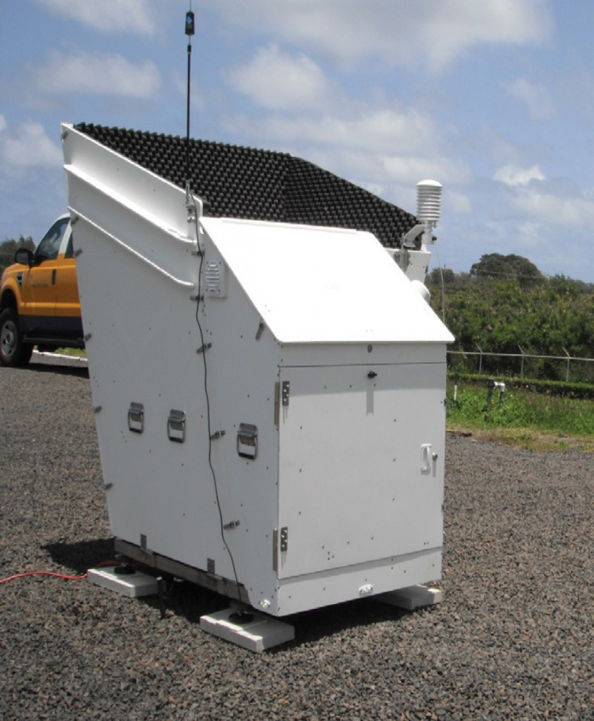FIGURE 4. Atmospheric Research and Technology SoDAR owned and operated by the Hawaiian Electric Company. Photo by Amra Brightbill. Courtesy of AWS Truepower.