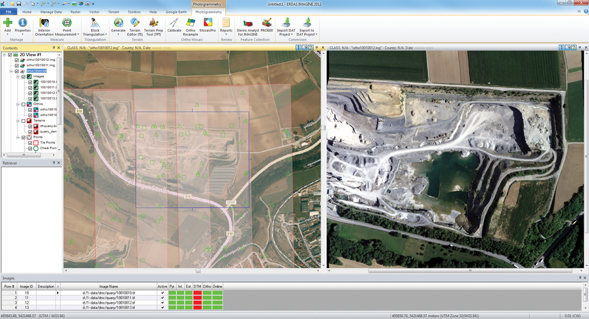 FIGURE 7. The LPS ribbon interface provides access to remote sensing functionality. Image courtesy of Intergraph.