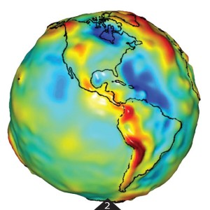 FIGURE 2. GRACE gravity model of The Americas. Image courtesy of University of Texas Center for Space Research and NASA.