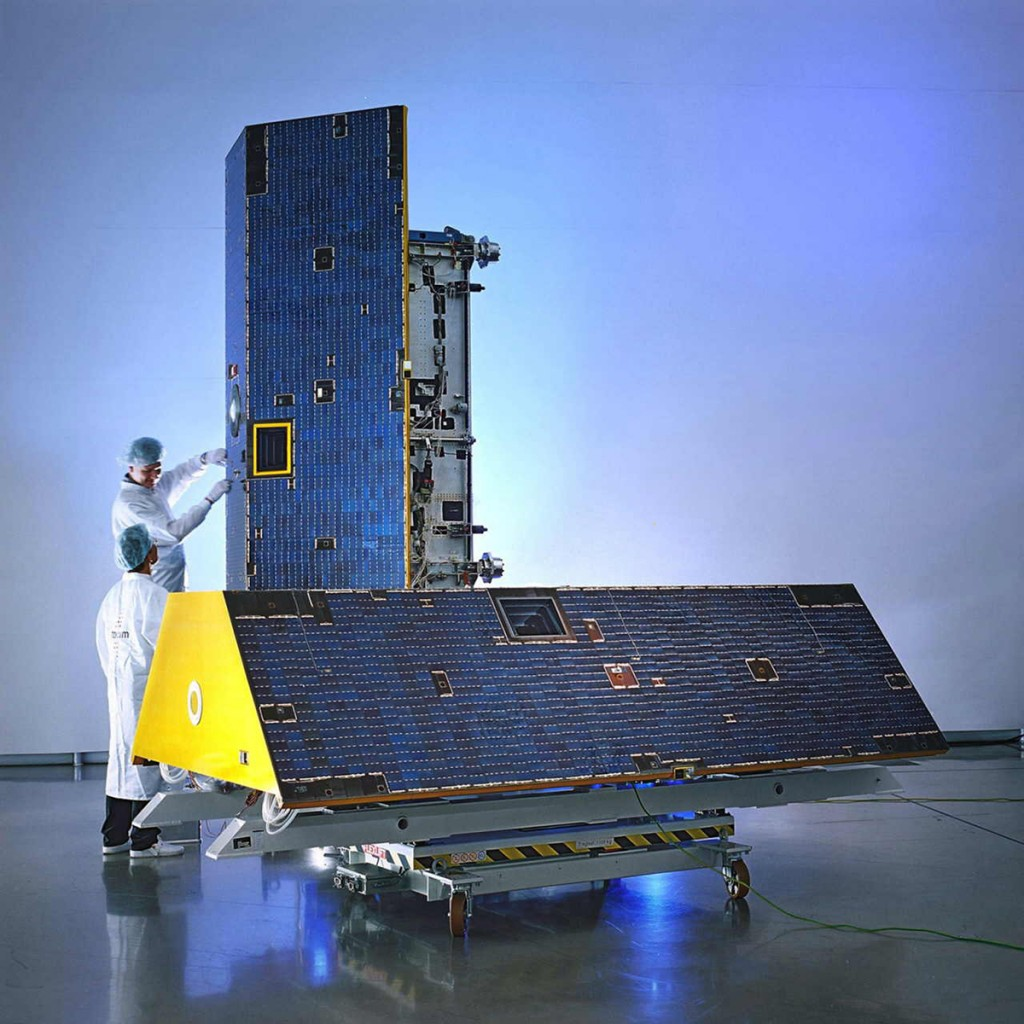 FIGURE 1. The GRACE satellites before launch. Courtesy of Astrium.
