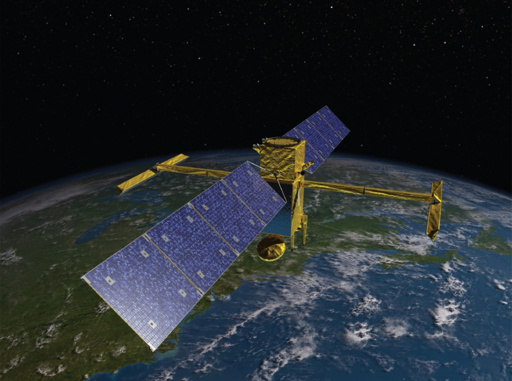 FIGURE 6. Artist's concept of NASA's SWOT satellite, planned for launch in 2020. SWOT is designed to make the first-ever global survey of Earth's surface water—lakes, rivers and ocean—collecting detailed measurements of how water bodies on Earth change over time. Courtesy of NASA/JPL-Caltech.