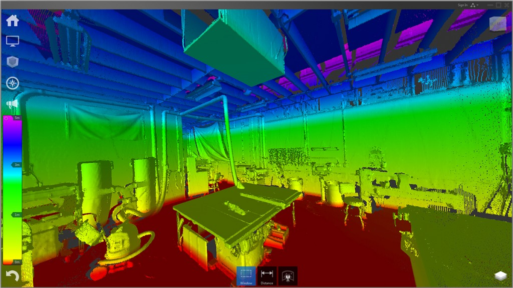 FIGURE 2. Autodesk ReCap Pro shows various height levels through color coding.