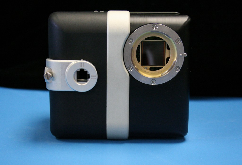 FIGURE 9. Advanced Scientific Concepts Inc.'s TigerCub 3D Flash Lidar camera with Zephyr laser weighs less than three pounds. Image courtesy of ASC.