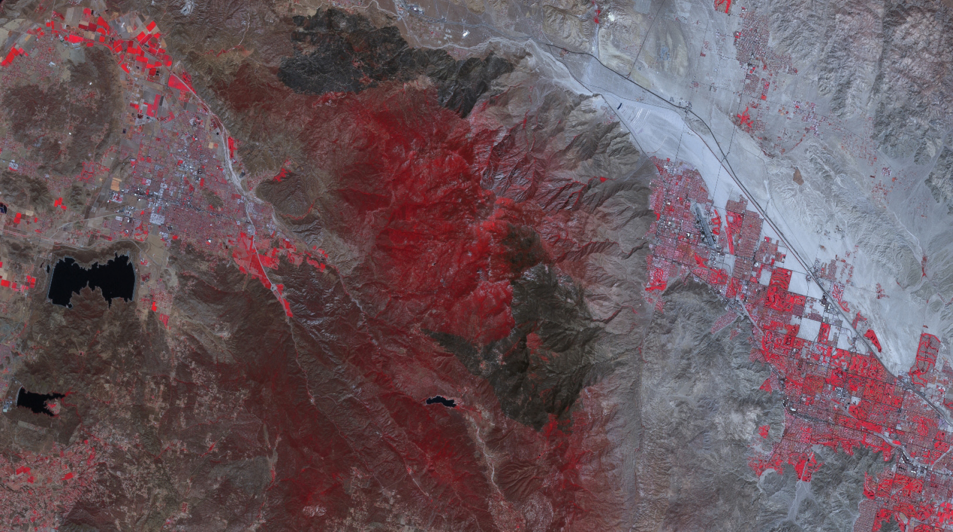 Figure 3. Colorado burnscar from wildfires, U.S. imaged May 22, 2013