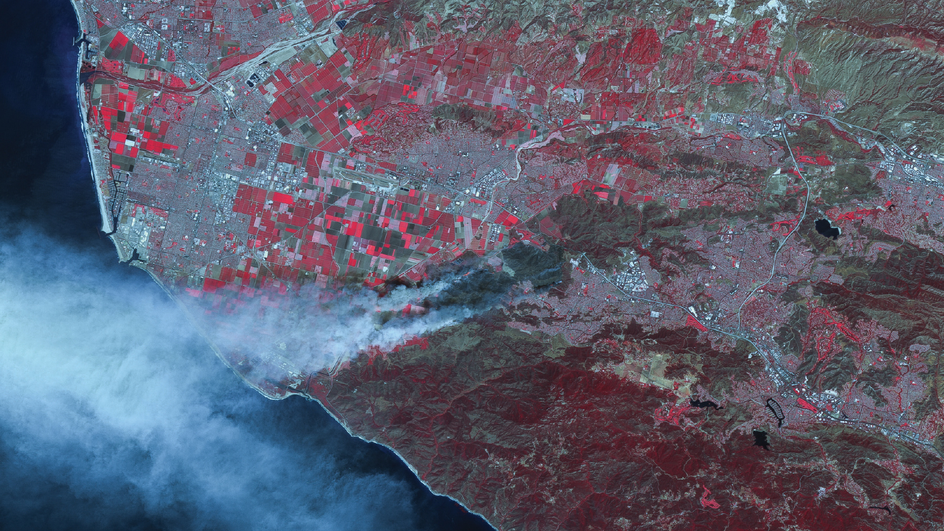 FIGURE 4-5. California Wildfires, USA, imaged May 2, 2013.