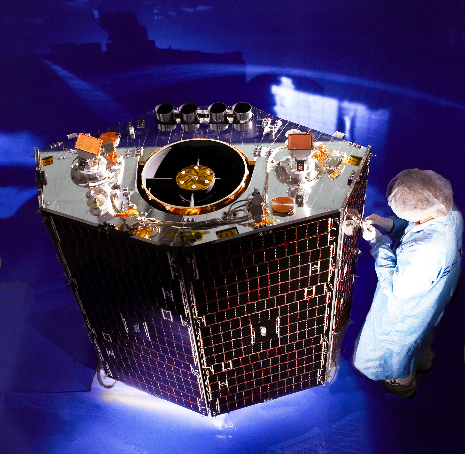 FIGURE 3. NigeriaSat-2 satellite, built by SSTL.
