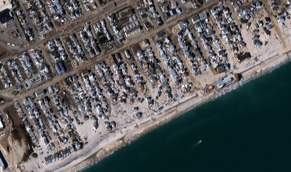 FIGURE 2. The same area as Figure 1, after the storm, on Nov. 4, 2012. PlanetiQ satellites will enable better severe weather predictions. Image courtesy of DigitalGlobe.