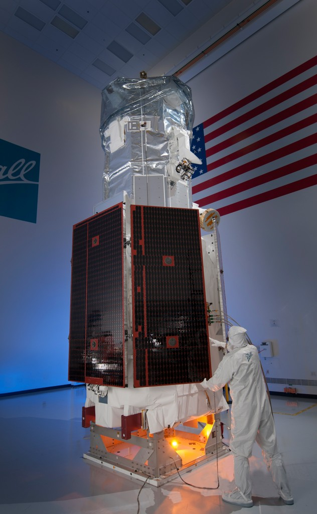 FIGURE 1. WorldView-3 satellite before launch