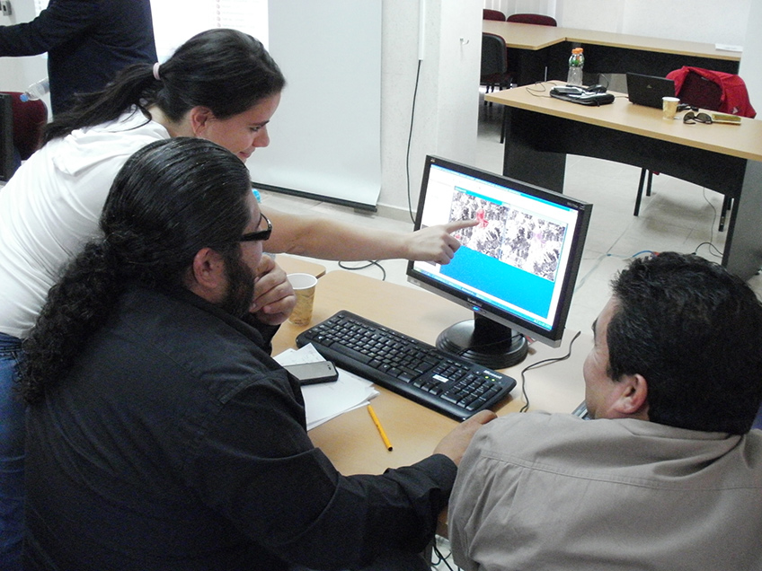 FIGURE 2. Training course for Mesoamerican countries on using radar images for flood mitigation, courtesy of UN-SPIDER.