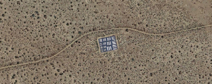 FIGURE 3. The aerial sensor calibration site located at Edwards Air Force Base in California (Google Earth Image)
