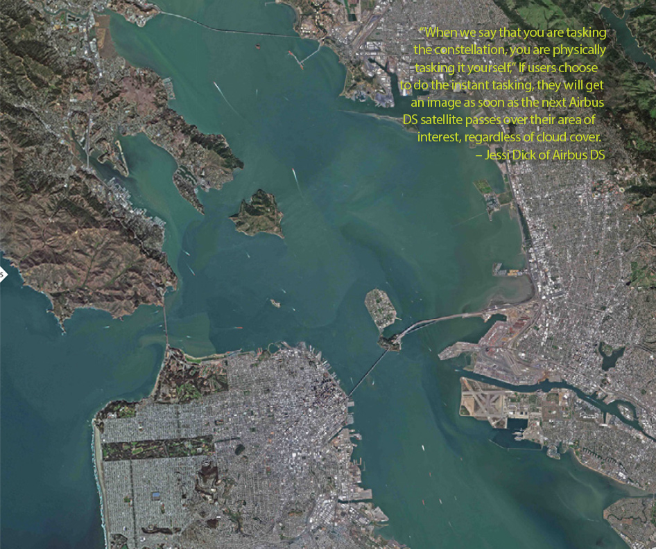 FIGURE 5. San Francisco Bay mosaic in RGB, courtesy of BlackBridge.