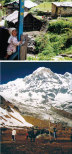 Photos from trekking in the gorgeous Annapurna Sanctuary of Nepal, 1998, courtesy of the author.