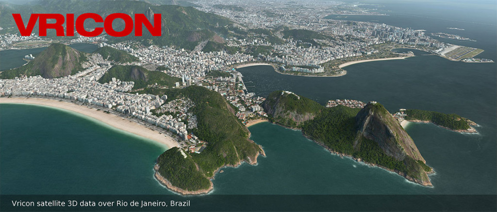 FIGURE 1. Vricon 3D data over Rio de Janeiro, Brazil