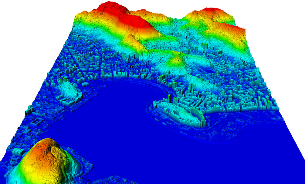 FIGURE 2. Vricon Digital Surface Model (DSM) over Rio de Janeiro, Brazil