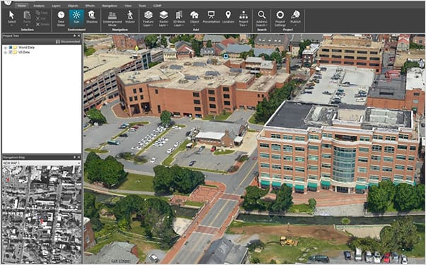 FIGURE 9. 3D Models displayed in TerraExplorer. Models and Imagery provided by Icaros.