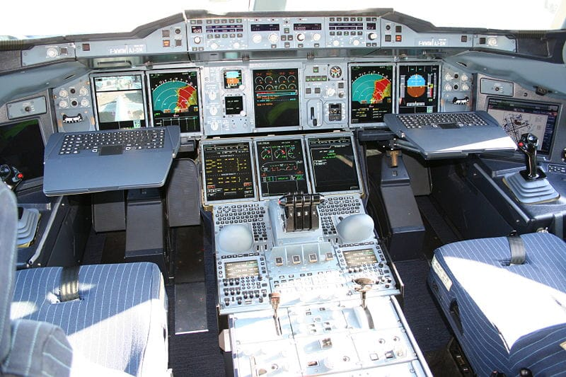 FIGURE 1. Cockpit of the A380 airplane.